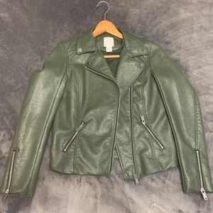 H&M faux leather biker jacket
